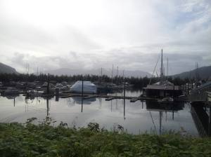 One of the town's harbors.