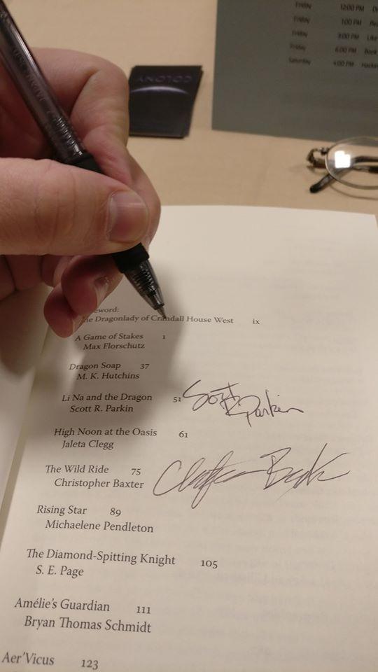 Signing!